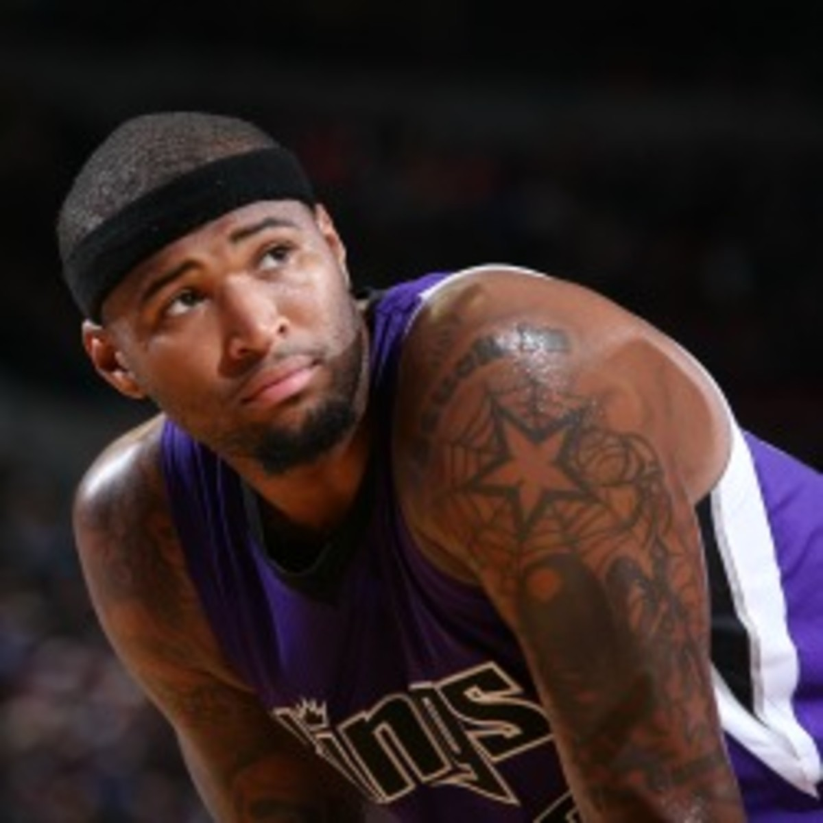 """Kings big man DeMarcus Cousins was suspended indefinitely for """"unprofessional behavior."""" (Sam Forencich/Getty Images)"""