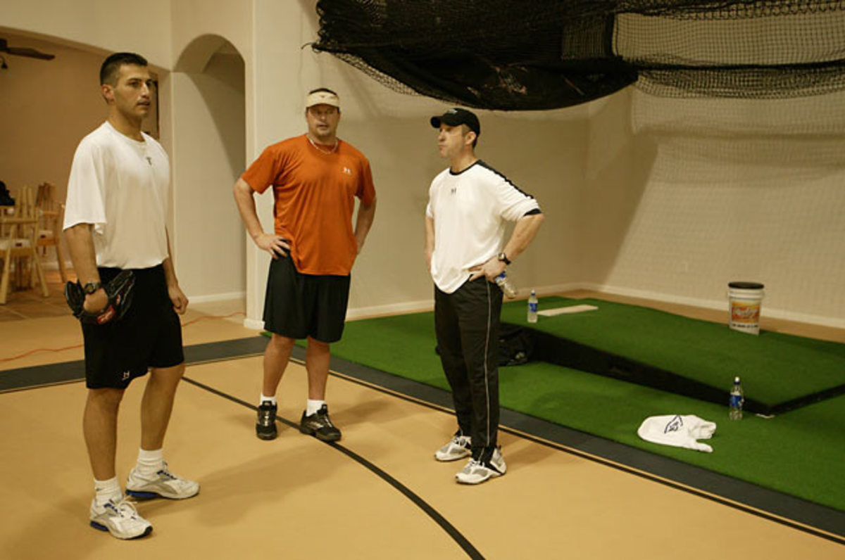 Andy Pettitte, Roger Clemens and Brian McNamee