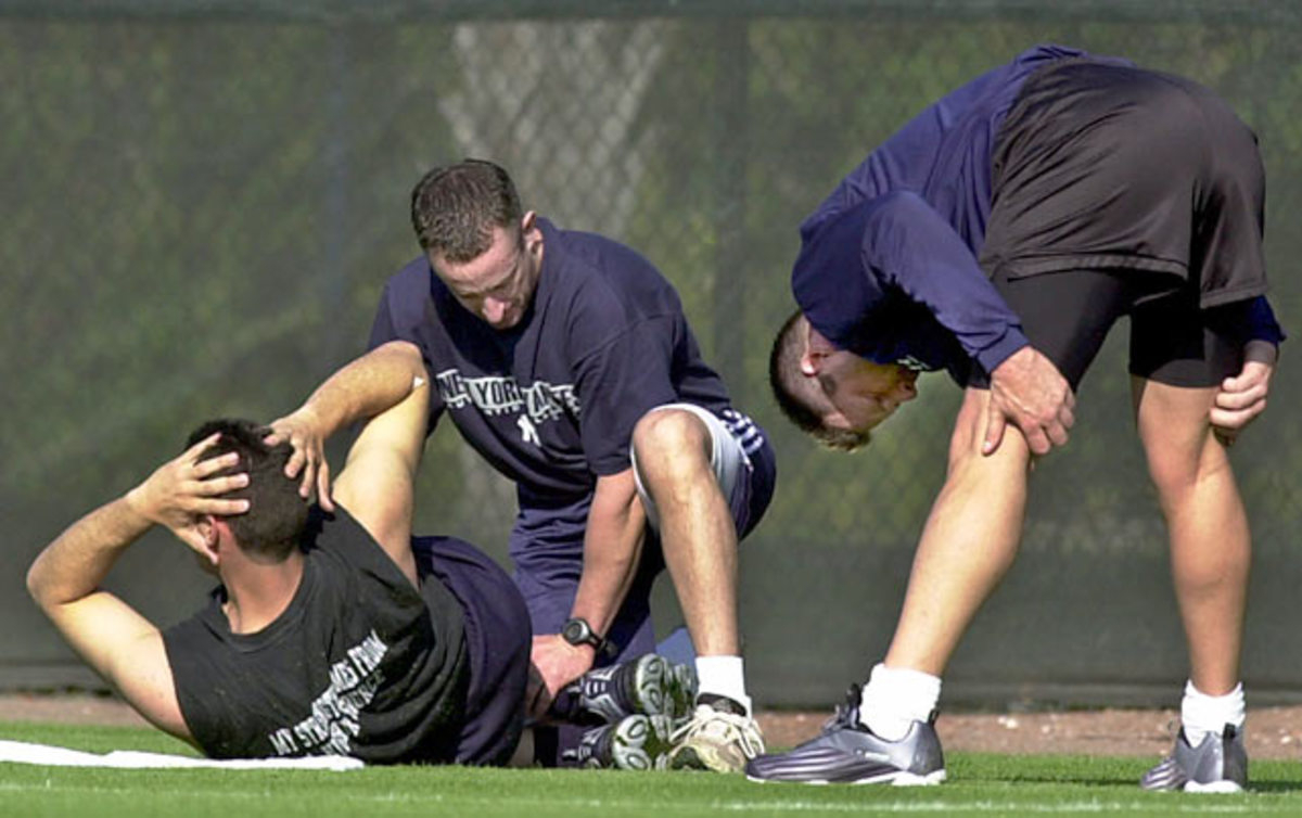 Andy Pettitte, Brian McNamee and Roger Clemens
