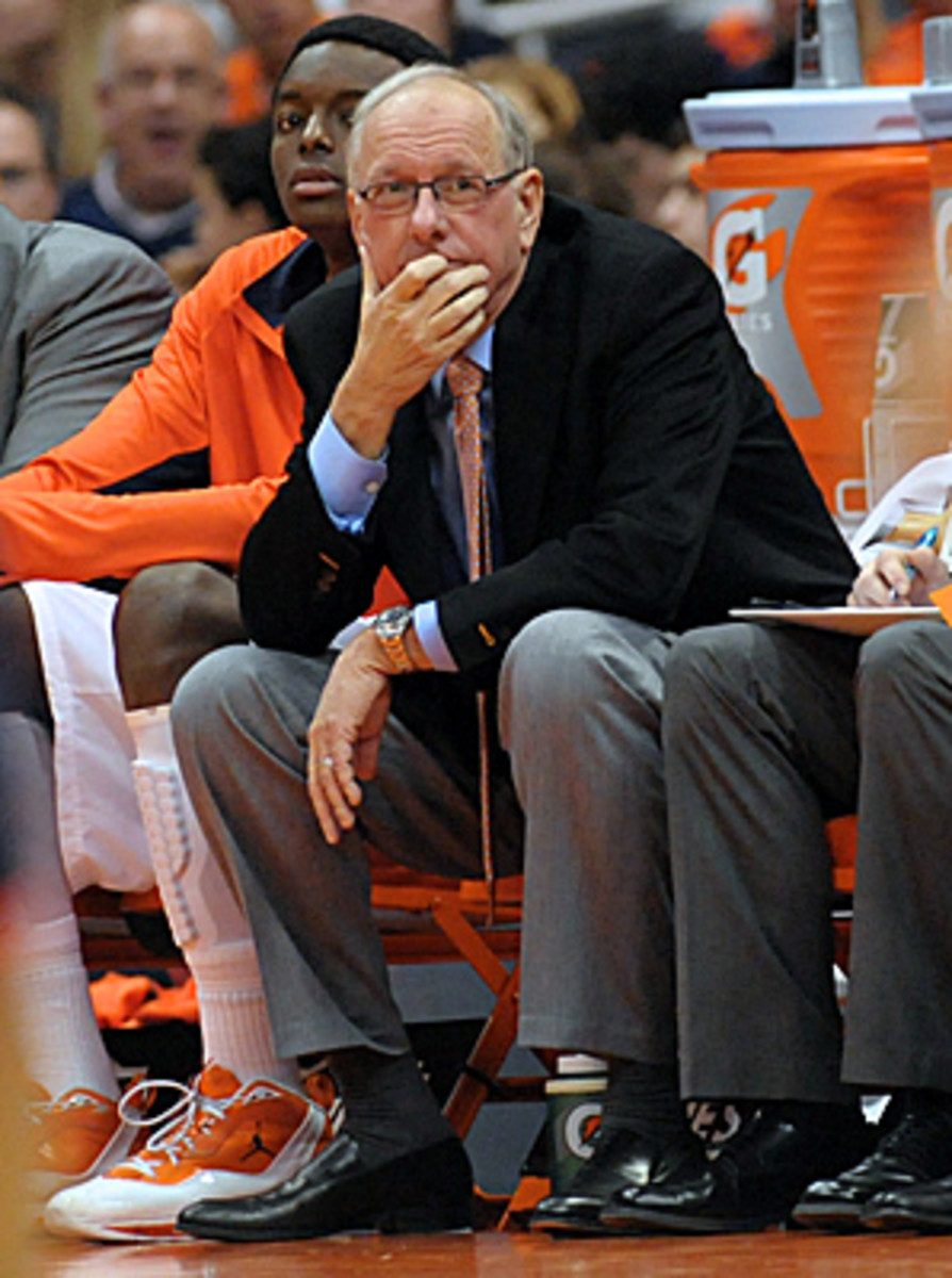 Jim Boeheim rarely appears to be having fun during a game but players love playing for him.