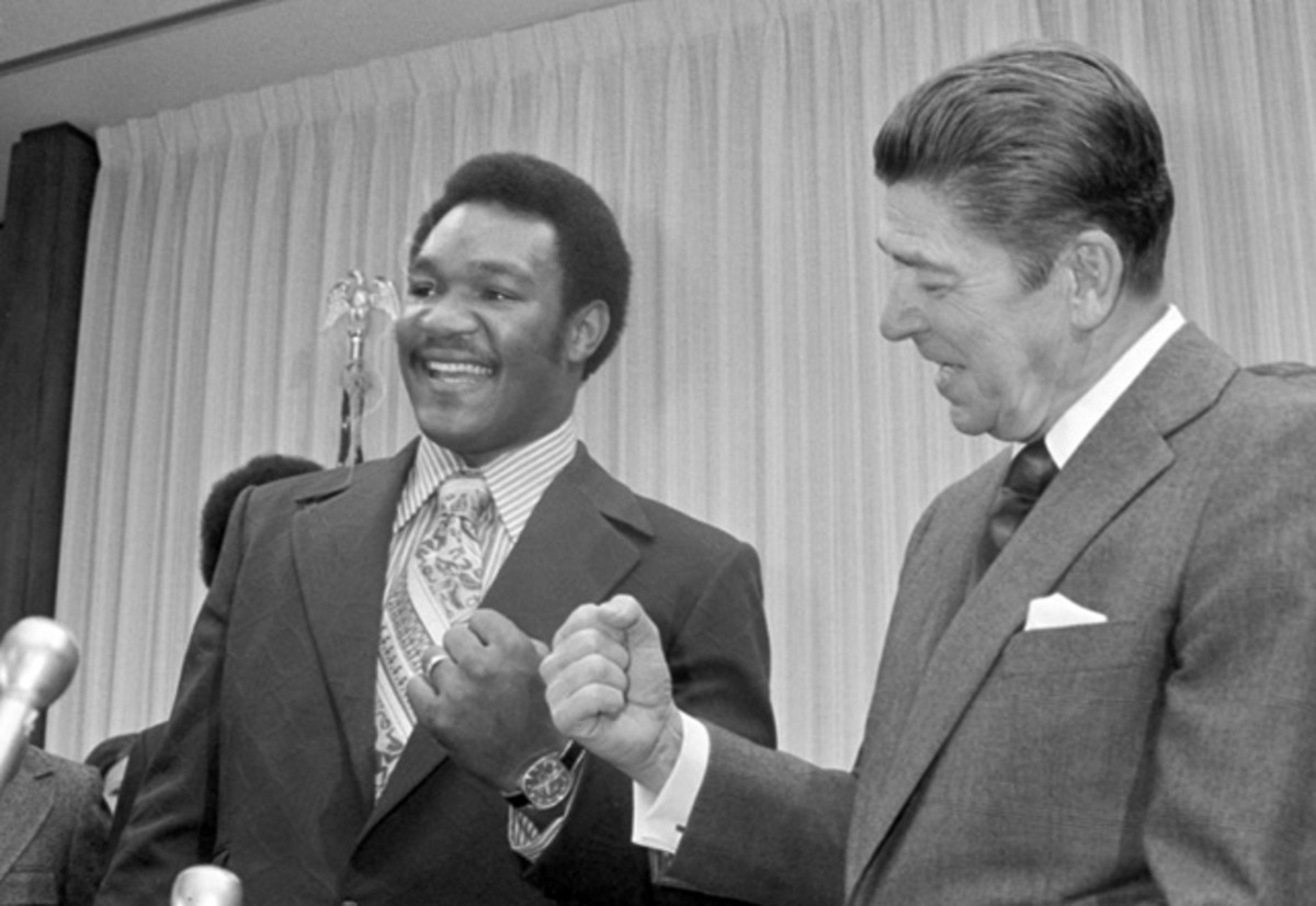 George Foreman and Ronald Reagan