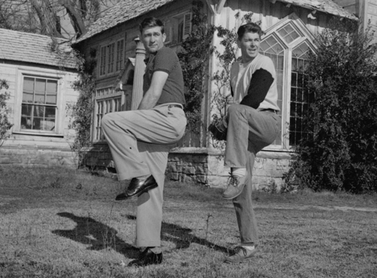 Ronald Reagan and Bob Lemon
