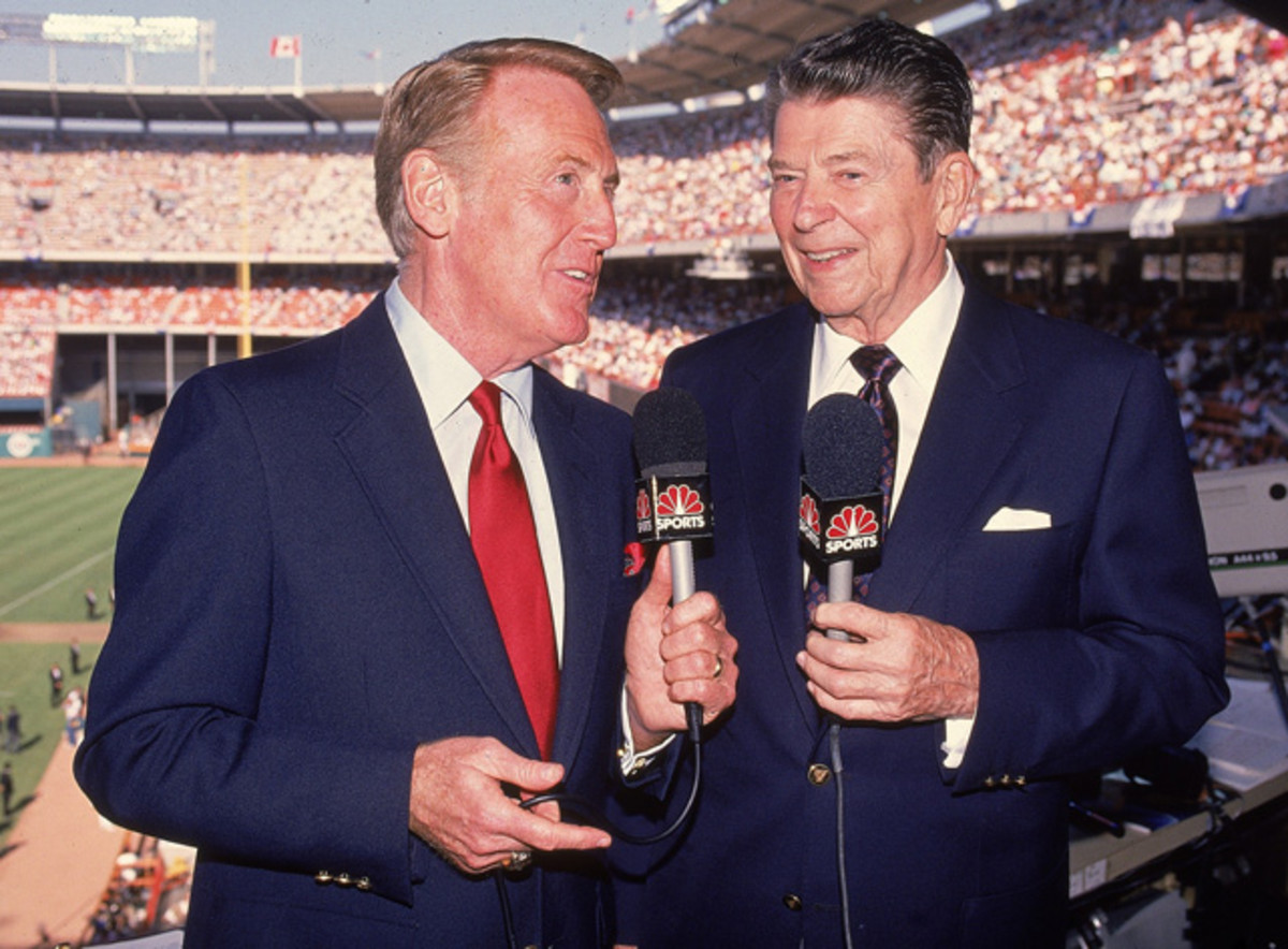 Vin Scully and Ronald Reagan