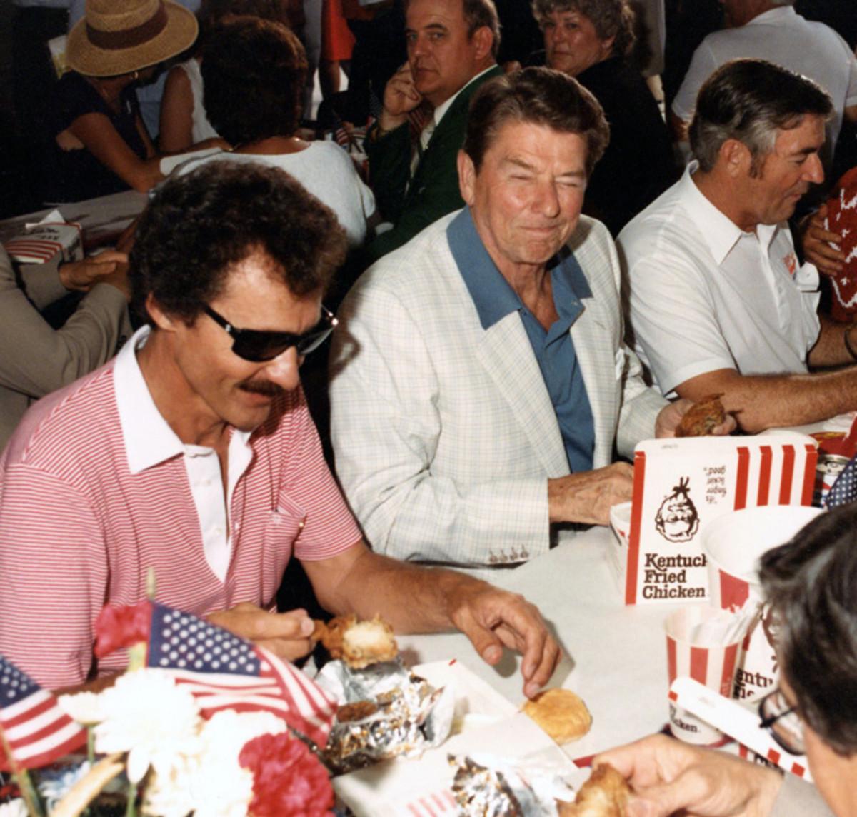 Ronald Reagan and Richard Petty