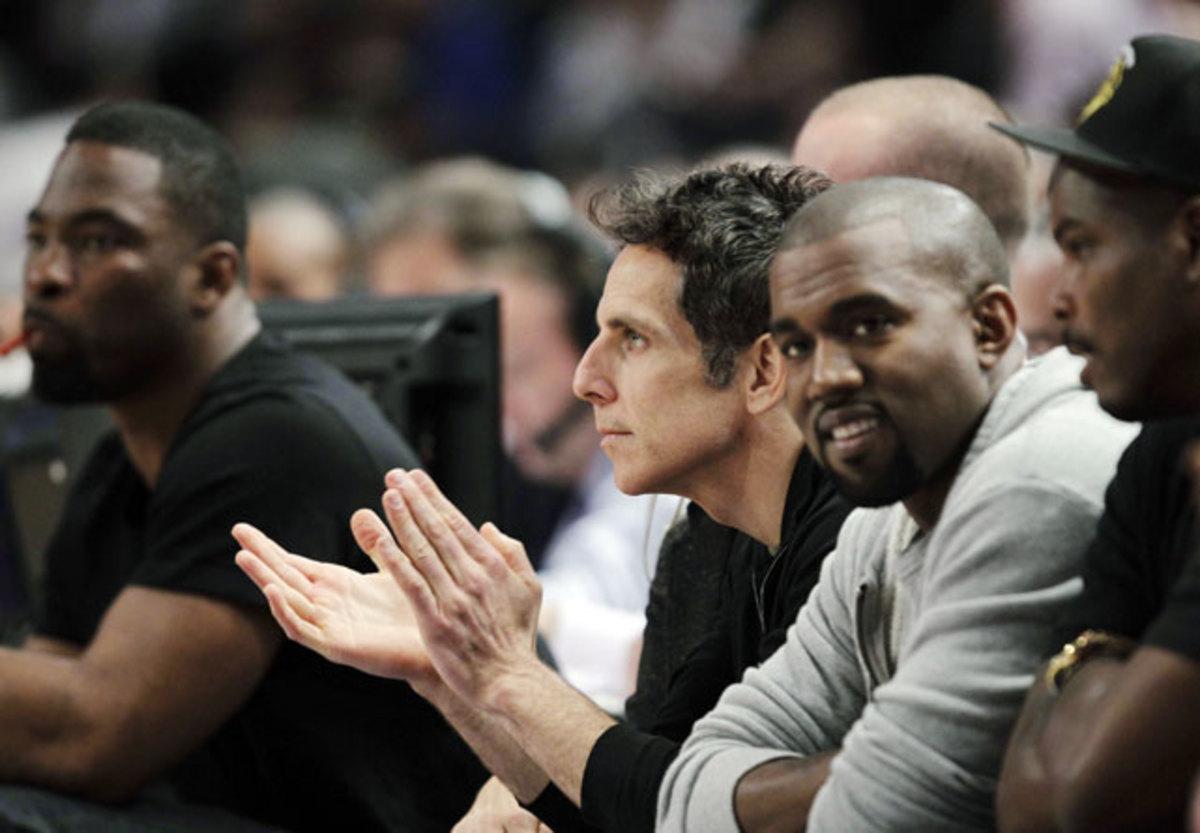 Ben Stiller and Kanye West