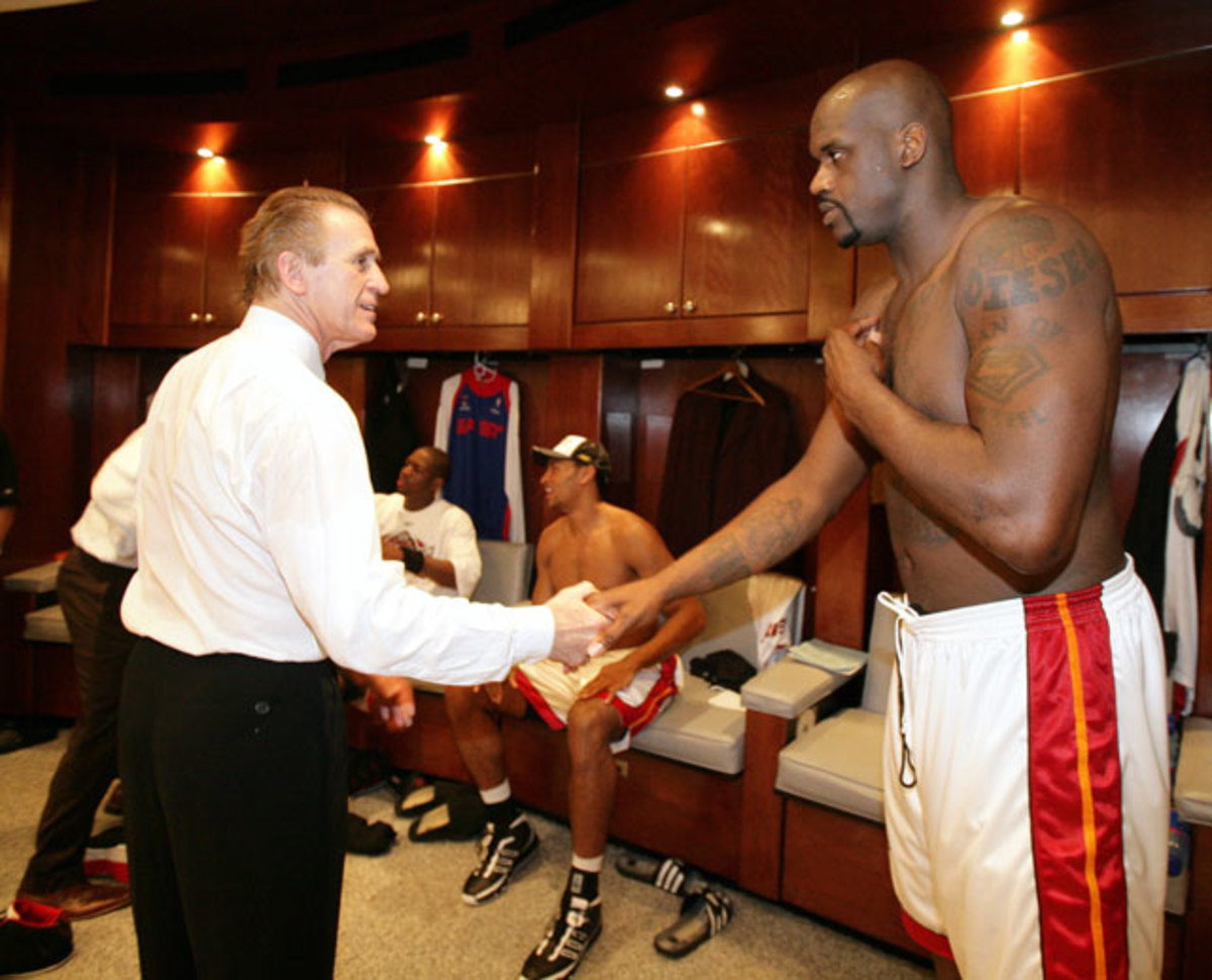 Pat Riley and Shaquille O'Neal