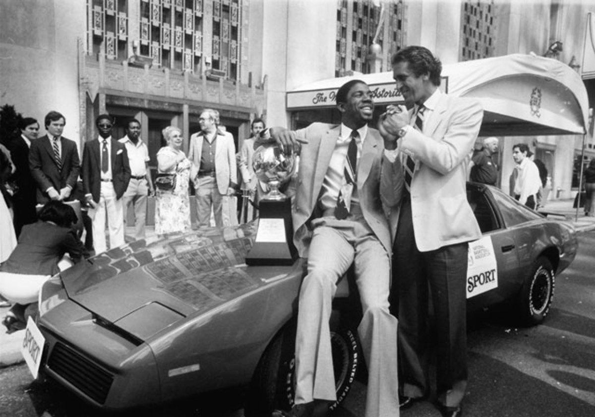 Pat Riley and Magic Johnson