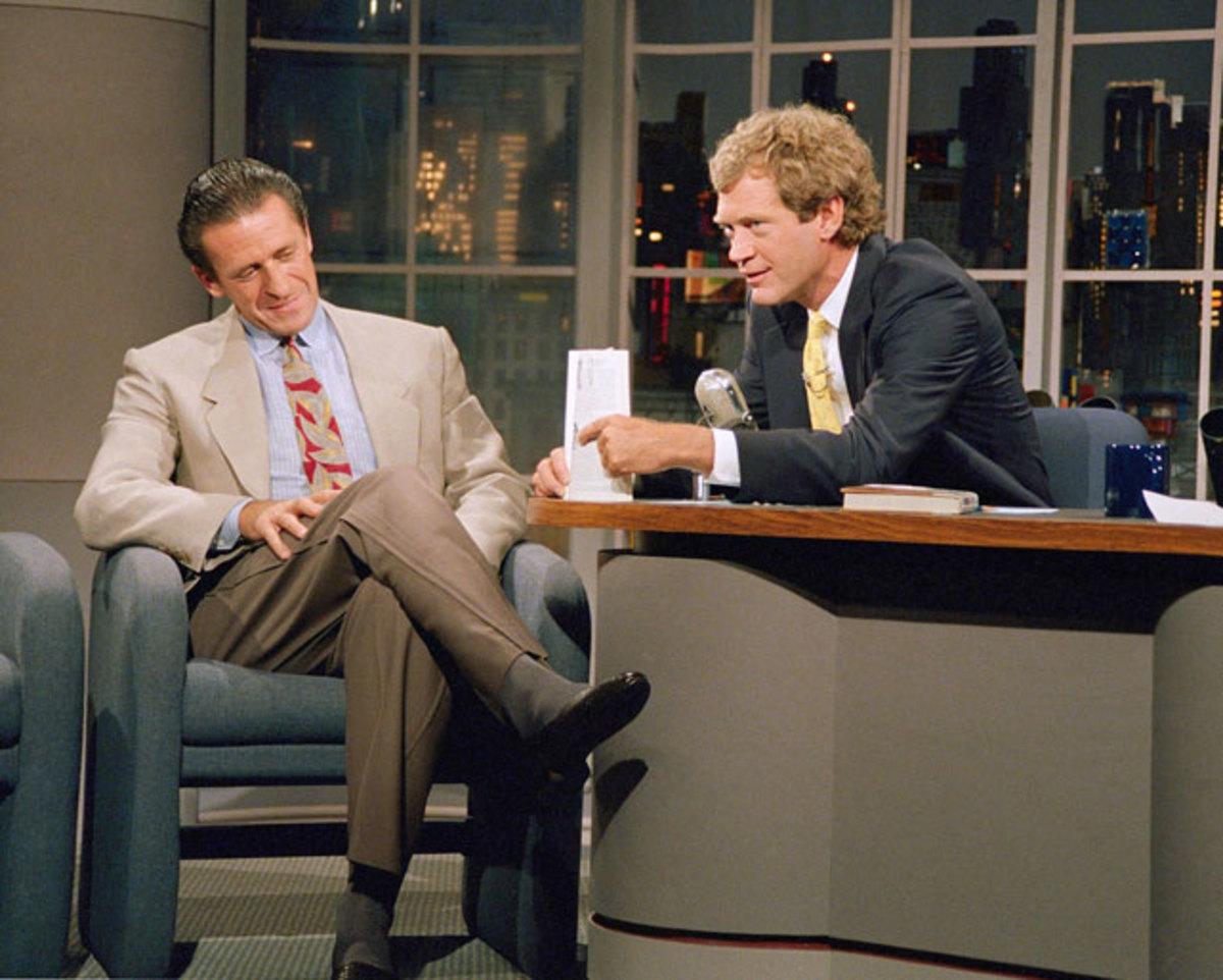 Pat Riley and David Letterman