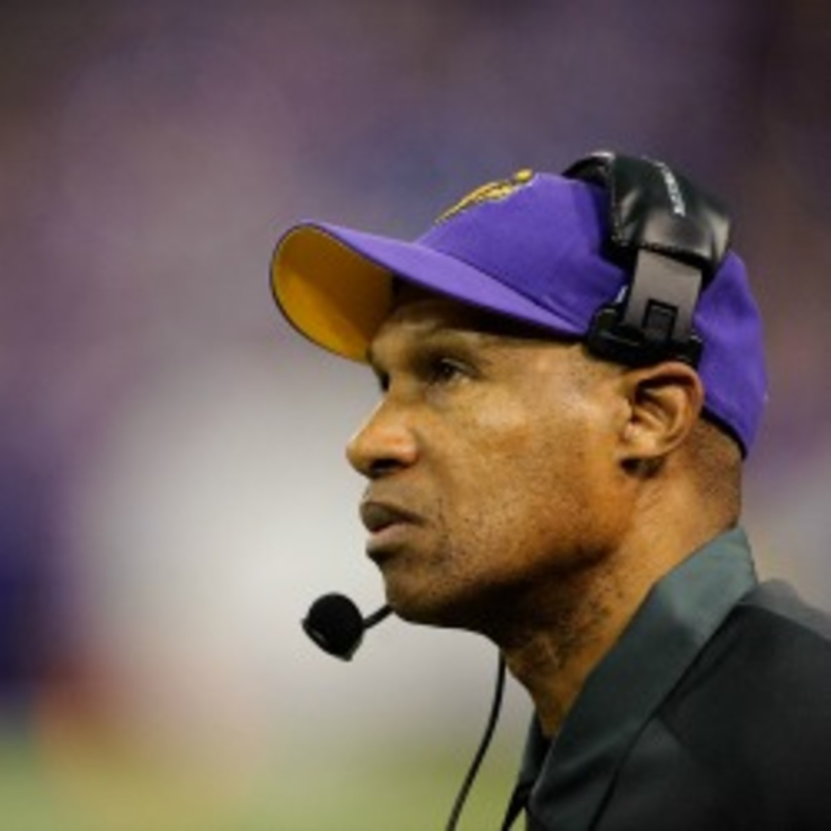 Vikings coach Leslie Frazier is currently under contract through the 2013 season. (Hannah Foslien/Getty Images)