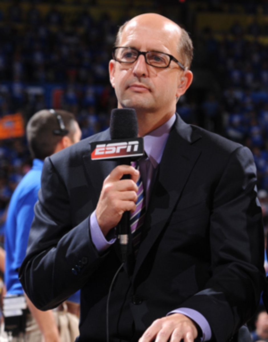 Commentator Jeff Van Gundy had a harsh assesssment of David Stern's decision to fine the Spurs. (Garrett Ellwood/Getty Images)