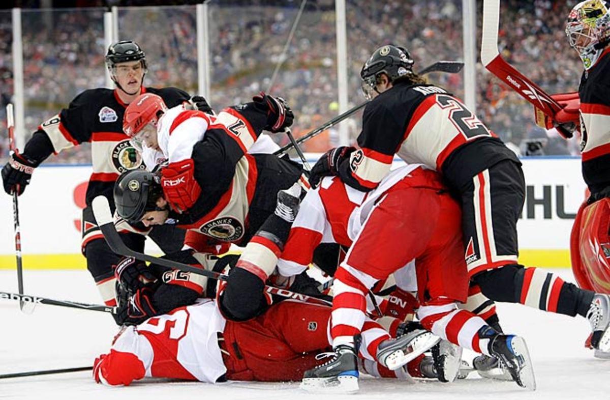 Red Wings 6, Blackhawks 4
