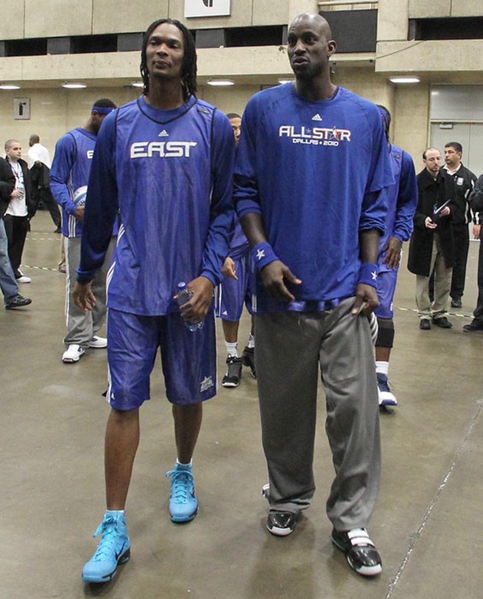 Chris Bosh and Kevin Garnett