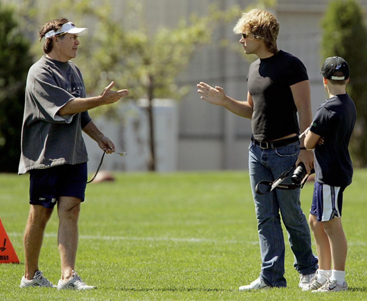 Bill Belichick and Jon Bon Jovi