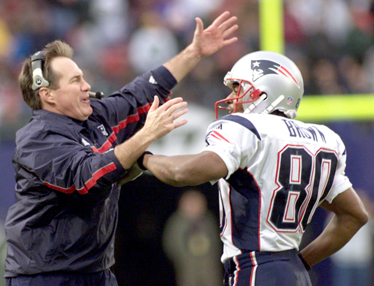 Bill Belichick and Troy Brown