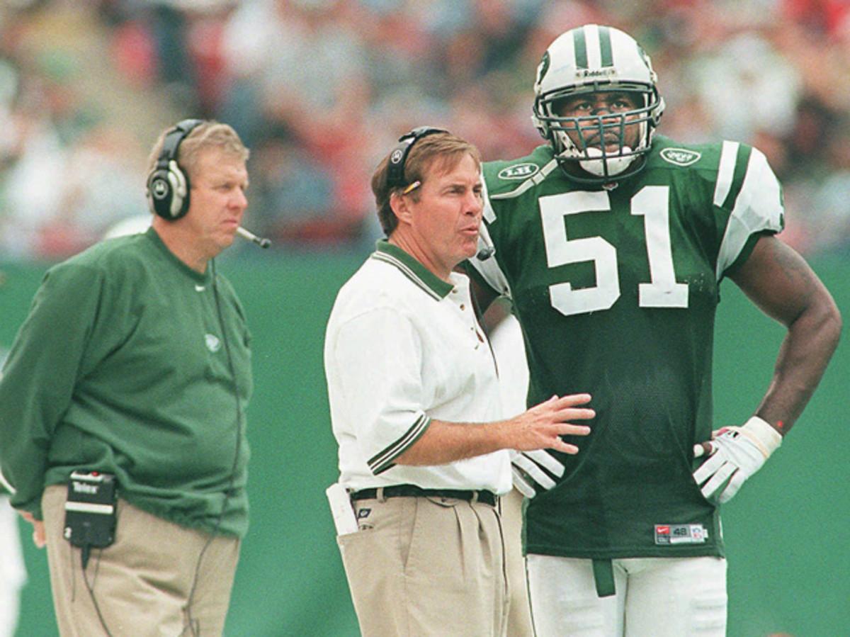 Bill Parcells, Bill Belichick and Bryan Cox