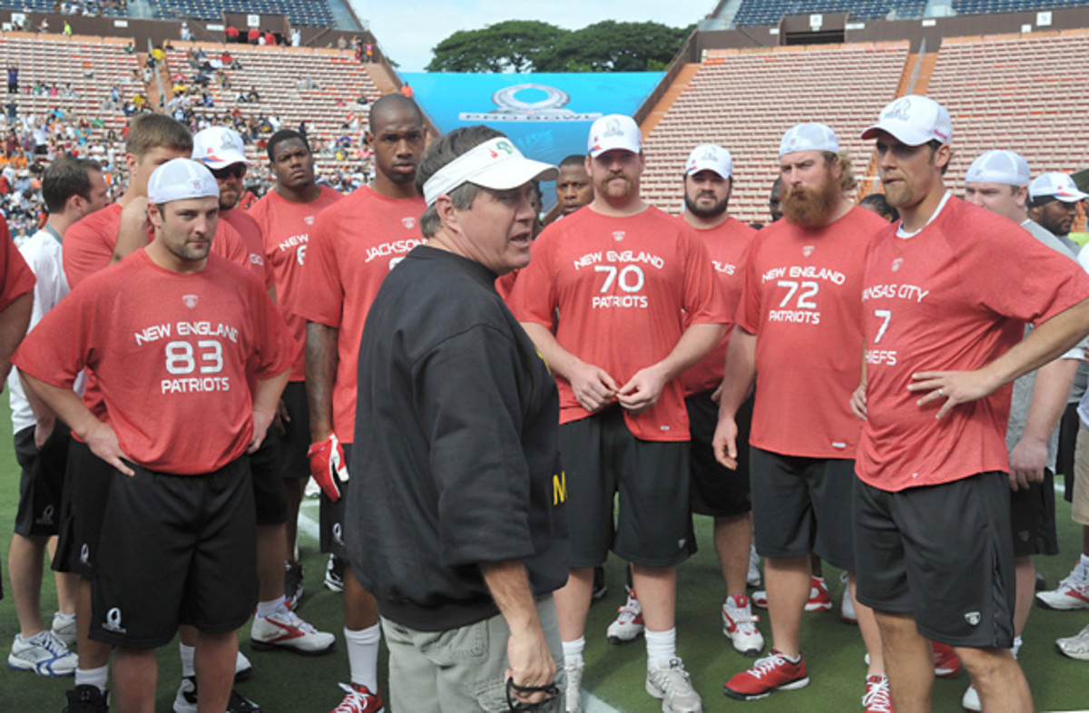 Bill Belichick and AFC Pro Bowlers