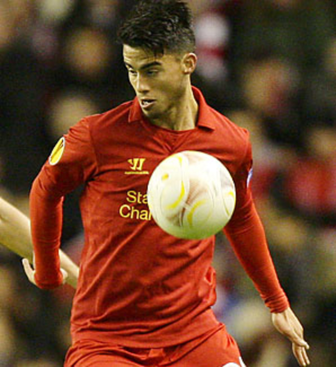 Suso and Liverpool are in 12th place in the Premier League.