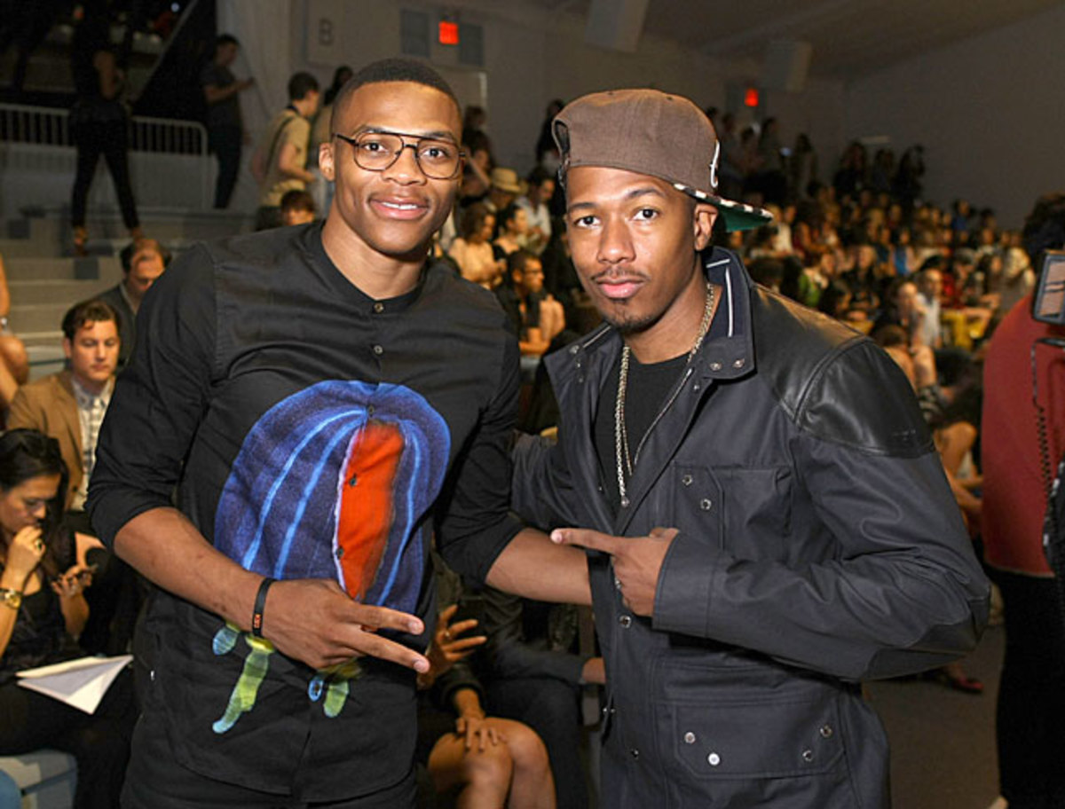 Russell Westbrook and Nick Cannon
