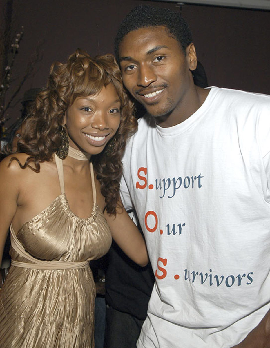 Ron Artest  and Brandy