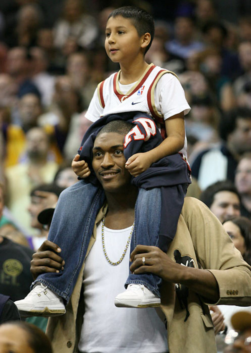 Ron Artest and fan