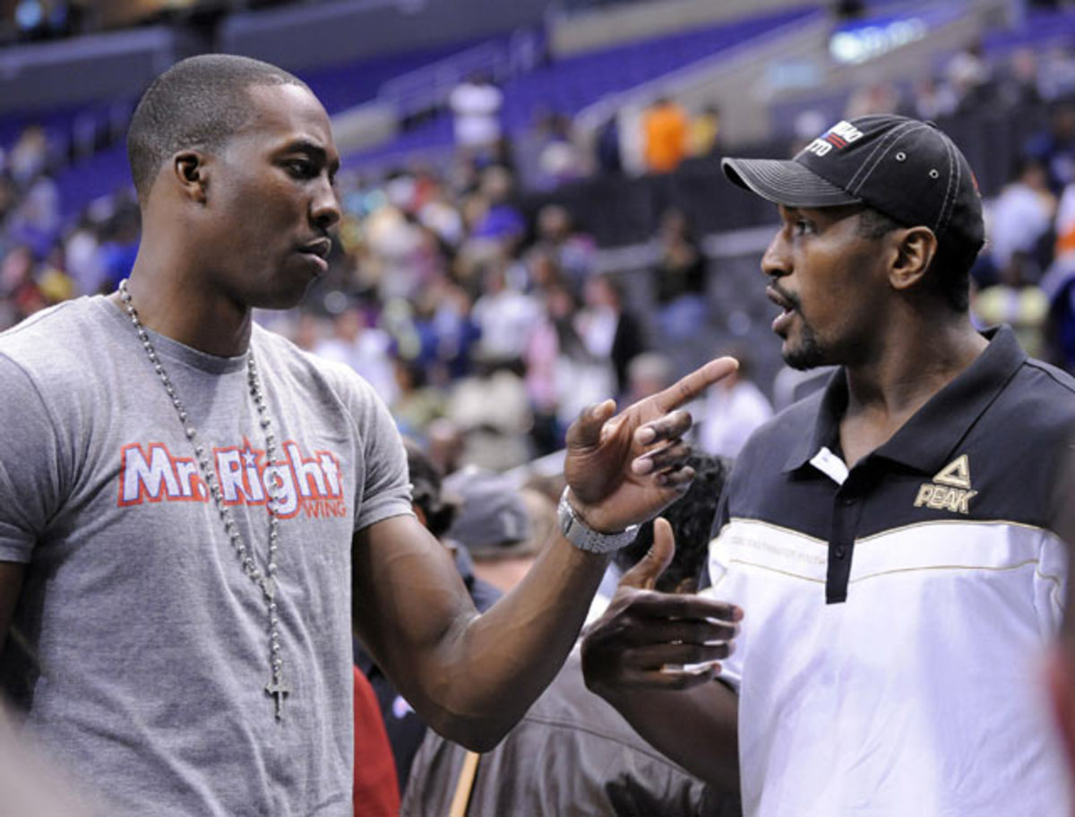 Dwight Howard and Ron Artest