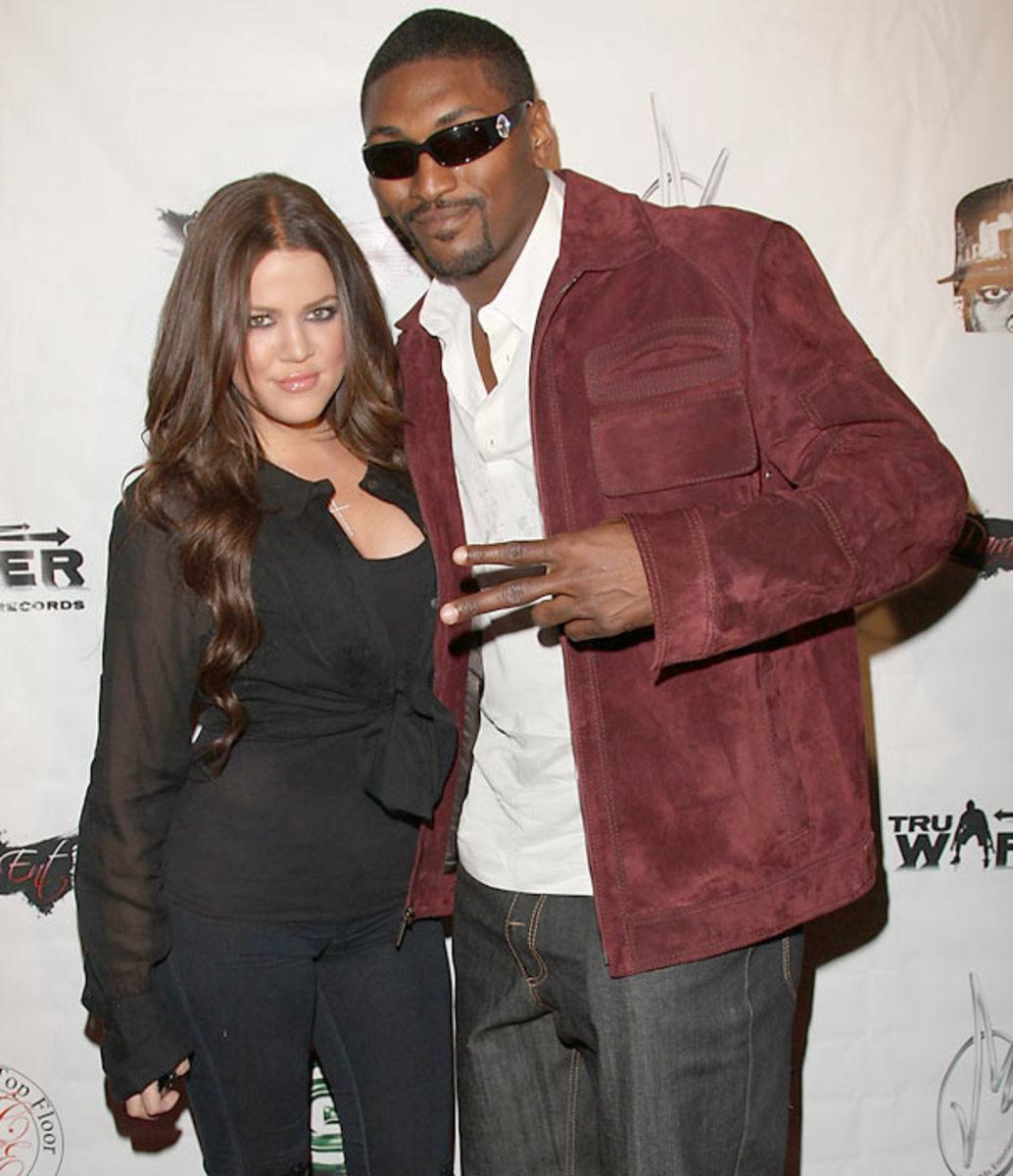 Khloe Kardashian and Ron Artest