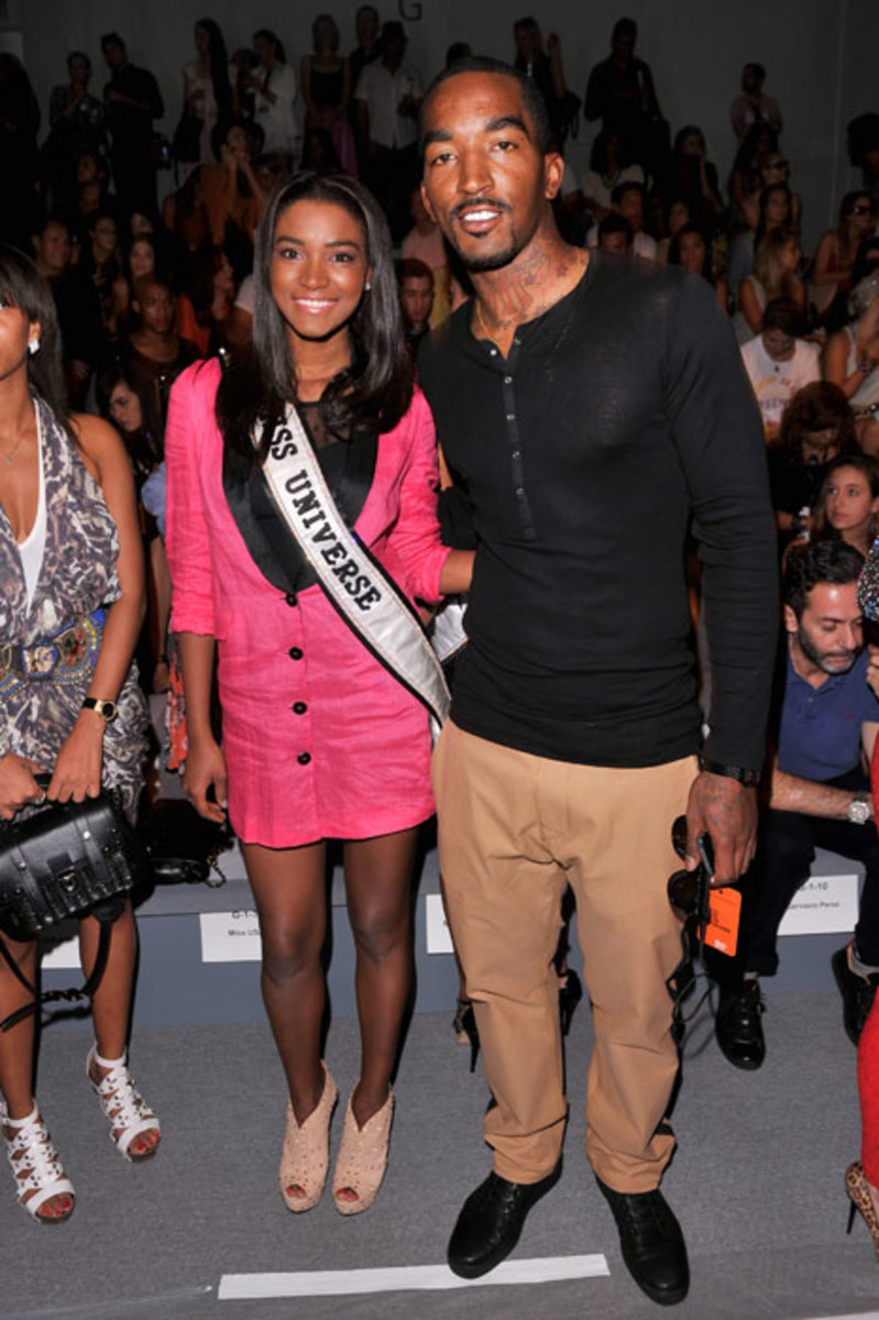 Miss Universe Leila Lopes and J.R. Smith
