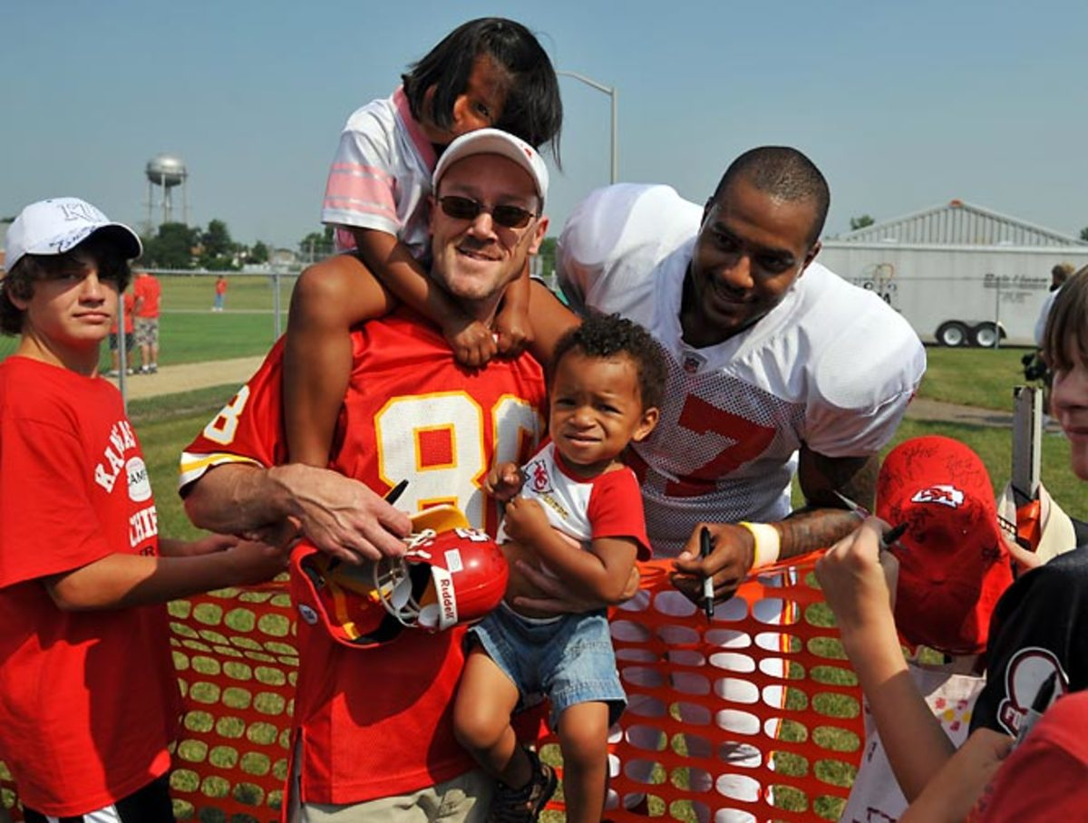 Larry Johnson with fans