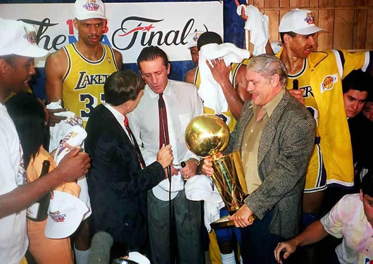 Lakers coach Pat Riley