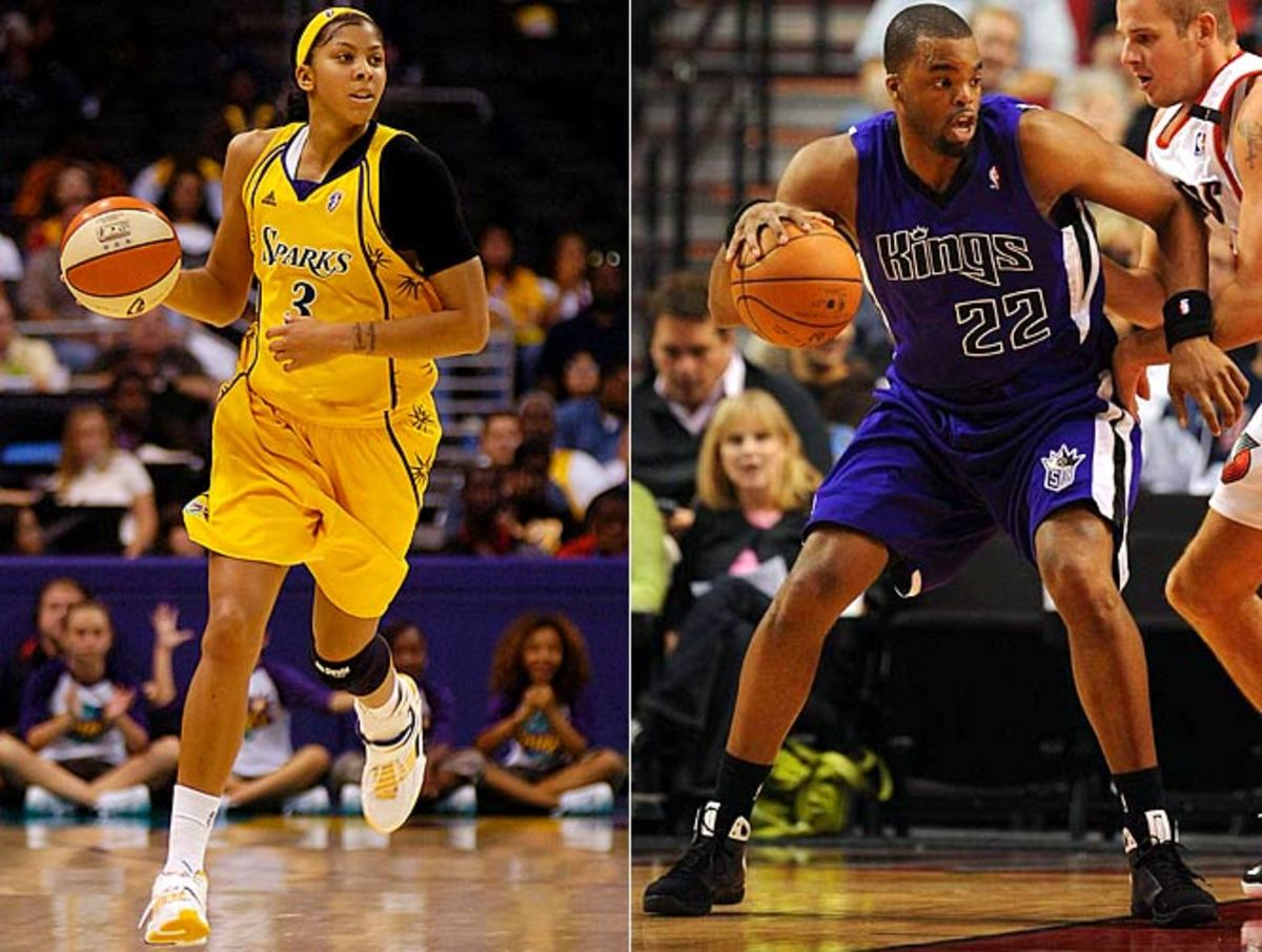 Candace Parker and Shelden Williams