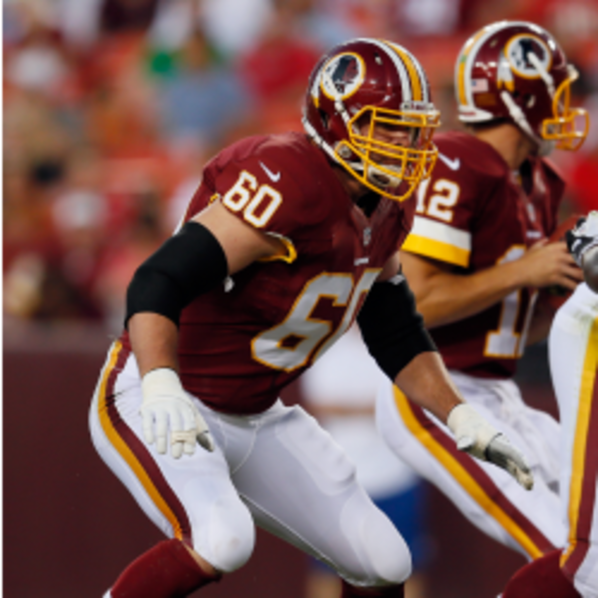 Redskins tackle Jordan Black was suspended for four games for PED use. (Rob Carr/Getty Images)