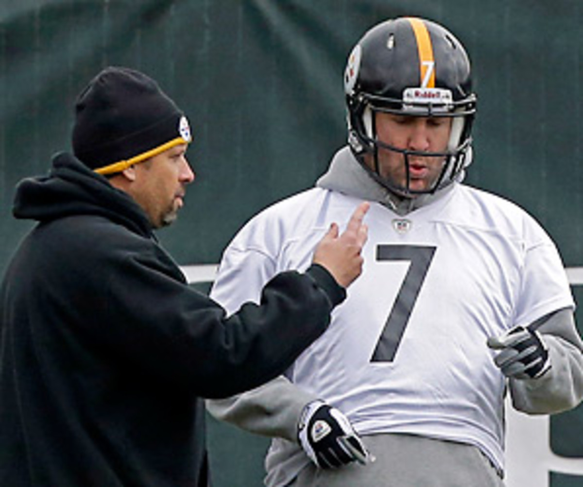 Ben Roethlisberger and Todd Haley will have to set aside their differences for a near must-win game against the Bengals. (Gene J. Puskar/AP)