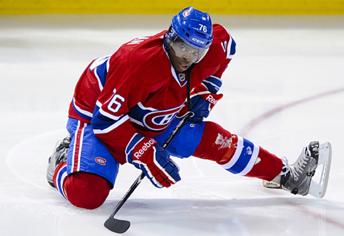 NHL free agent P.K. Subban of the Canadiens in negotiating a new contract.