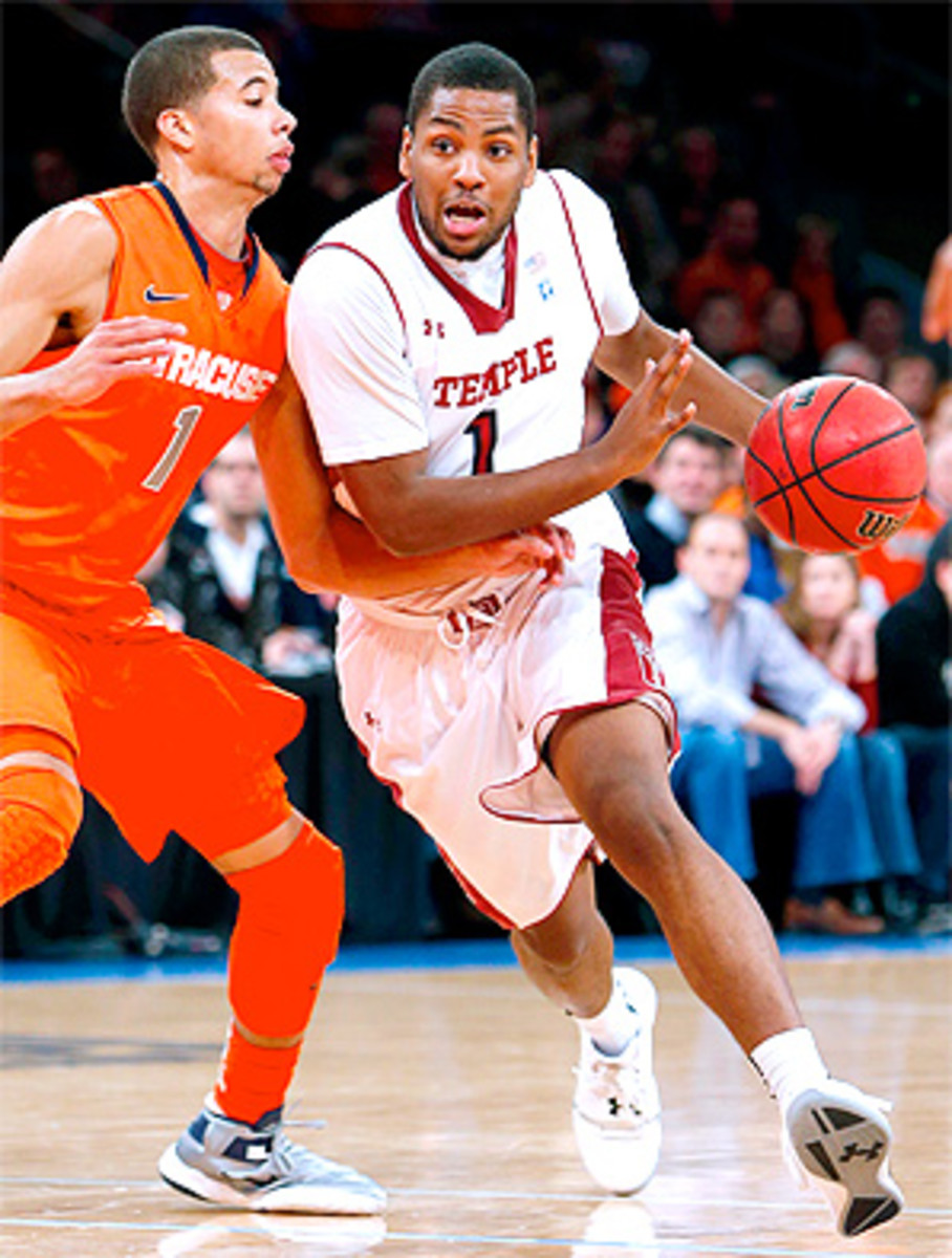 Temple's guard Khalif Wyatt had 33 points in the Owls' upset over Syracuse.