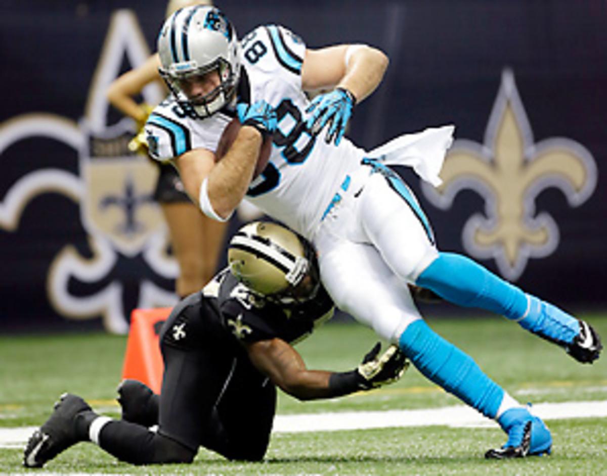 Poor tackling has been a hallmark of the Saints' season. (Dave Martin/AP)