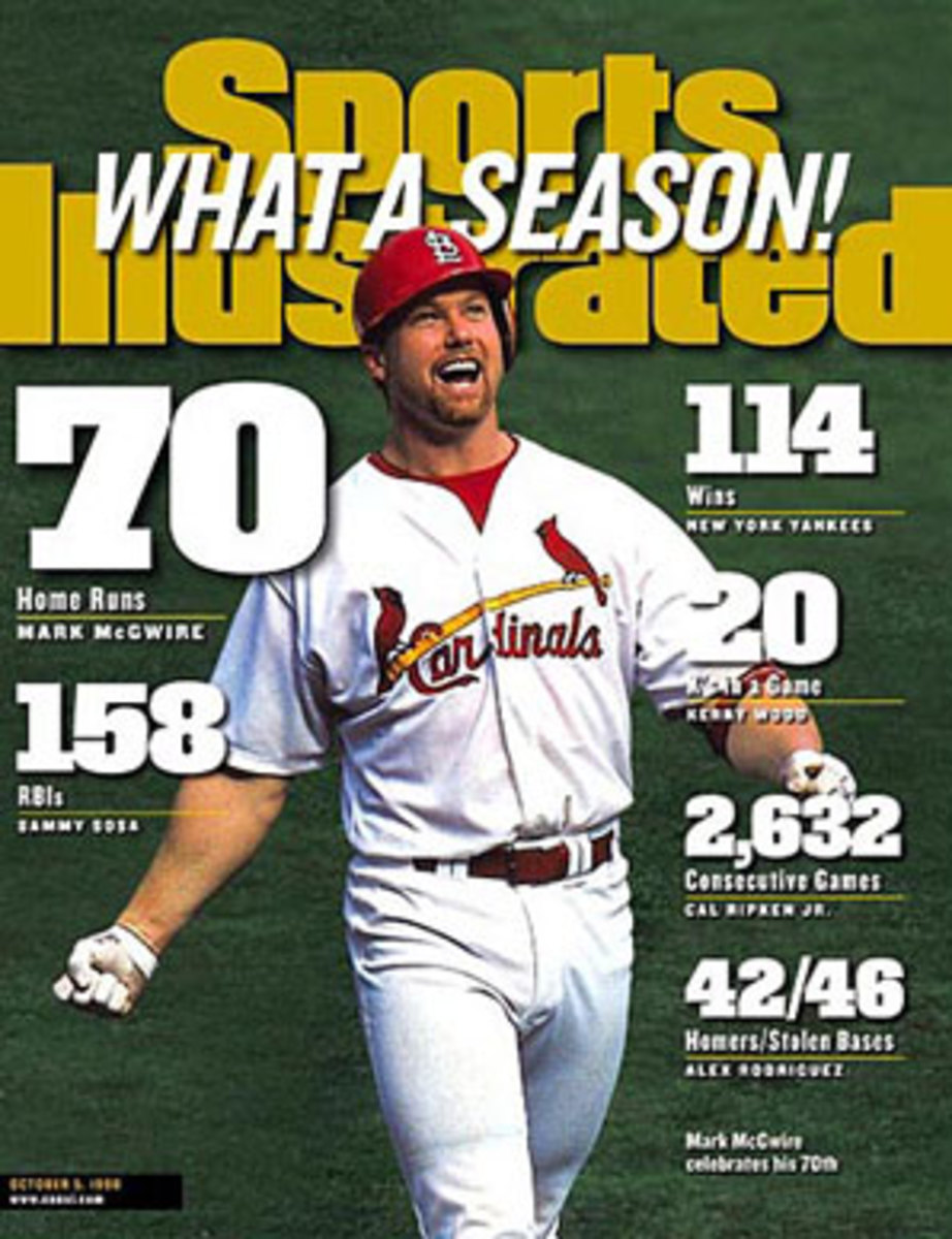 Mark McGwire later admitted to using steroids during his record-setting 70 home run season in 1998. (Darren Carroll/SI)