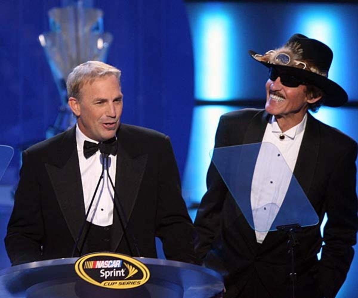 Kevin Costner and Richard Petty
