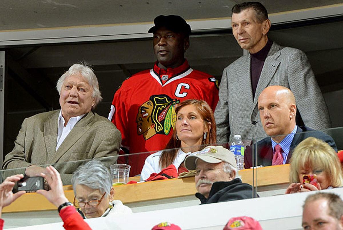 Michael Jordan, Bobby Hull and Stan Mikita
