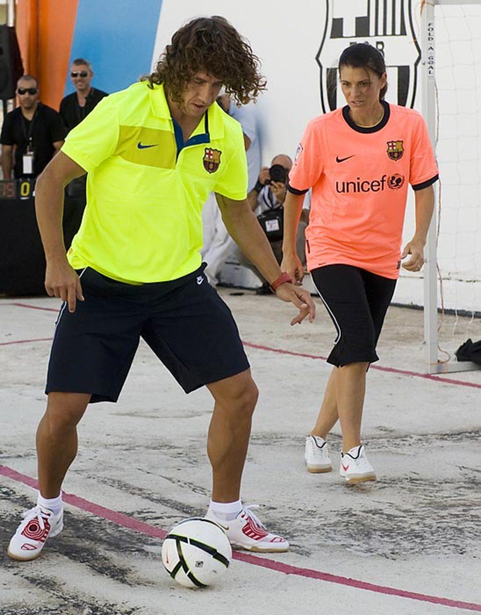 Carlos Puyol and Mia Hamm