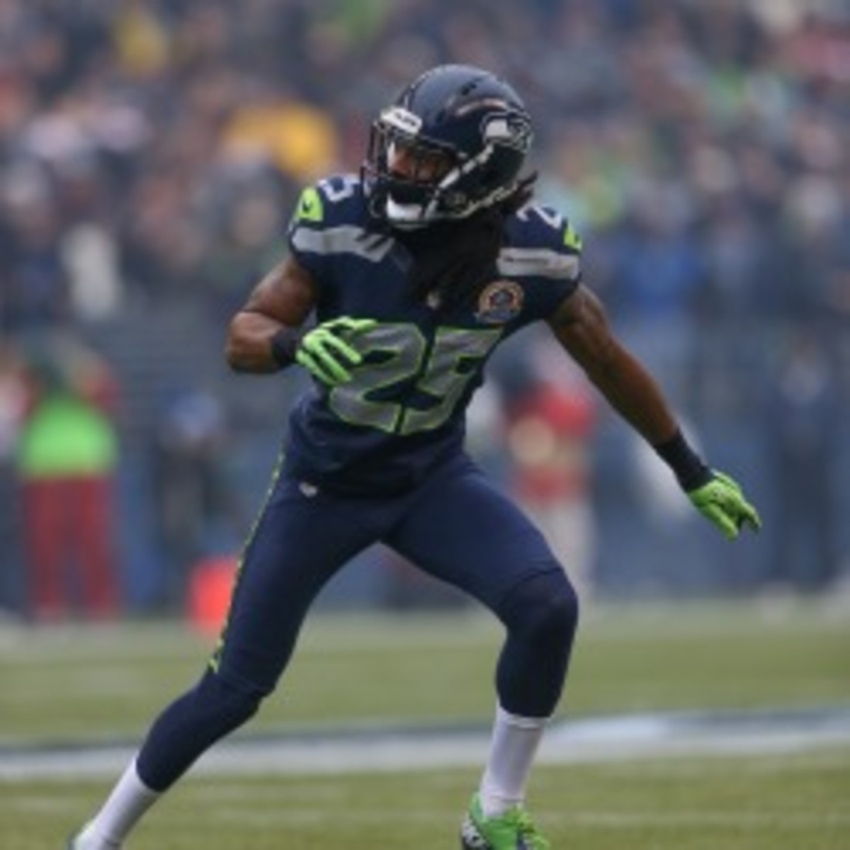 Seahawks cornerback Richard Sherman will have his appeal heard on Friday. (Otto Greule Jr/Getty Images)