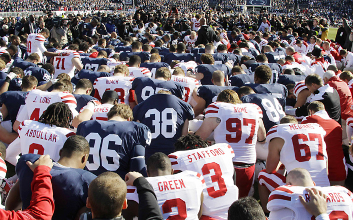 Scene at Nebraska-Penn State