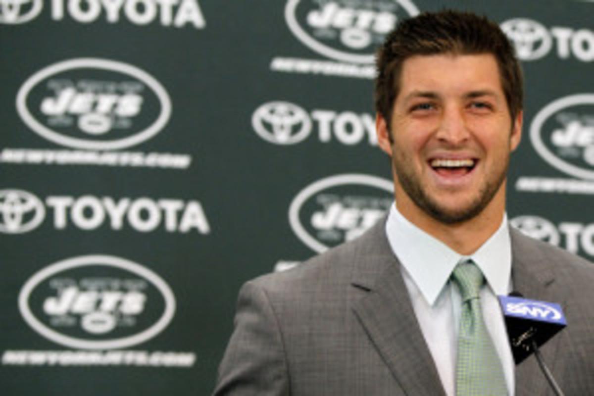 New York Jets Introduce Tim Tebow