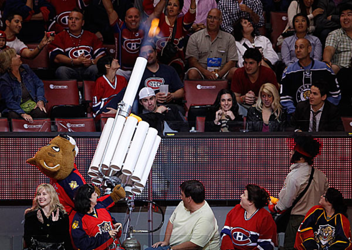 Florida Panthers mascot Stanley C. Panther was laid off due to the NHL lockout