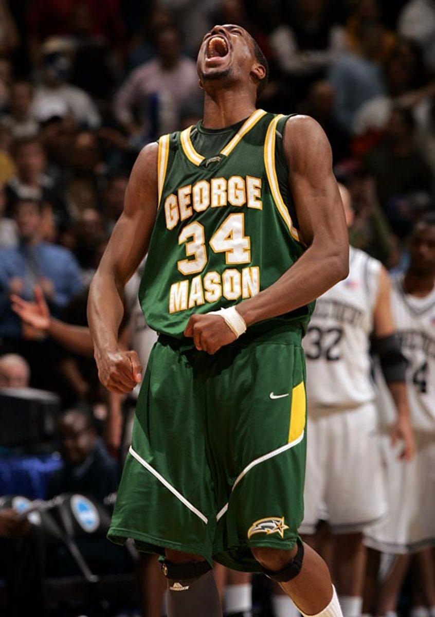 George Mason  86, UConn 84 (OT)   2006 NCAA regional final