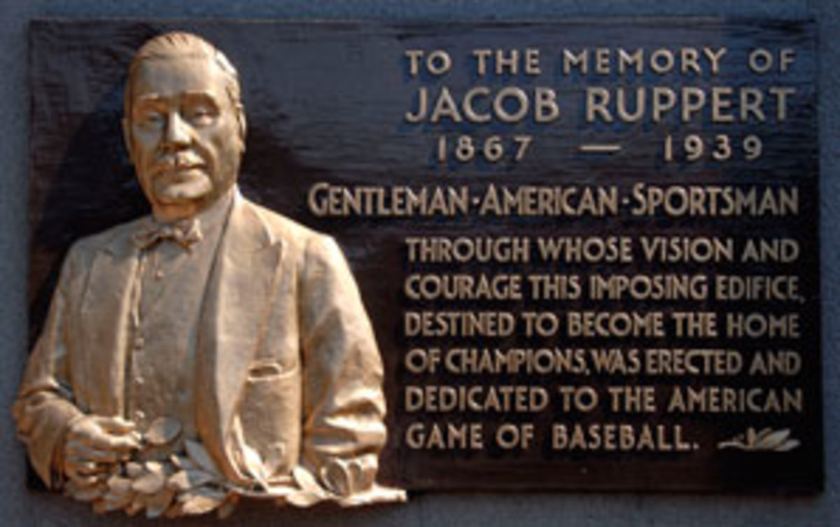Jacob Ruppert will now have a plaque in Cooperstown to go with the one he has at Monument Park in Yankee Stadium. (Icon SMI)