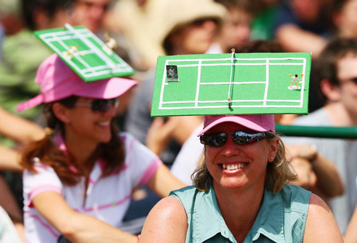 Happy Hat Tennis Fans
