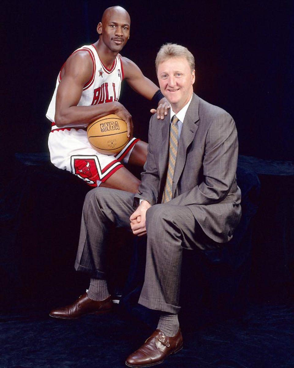 Larry Bird and Michael Jordan