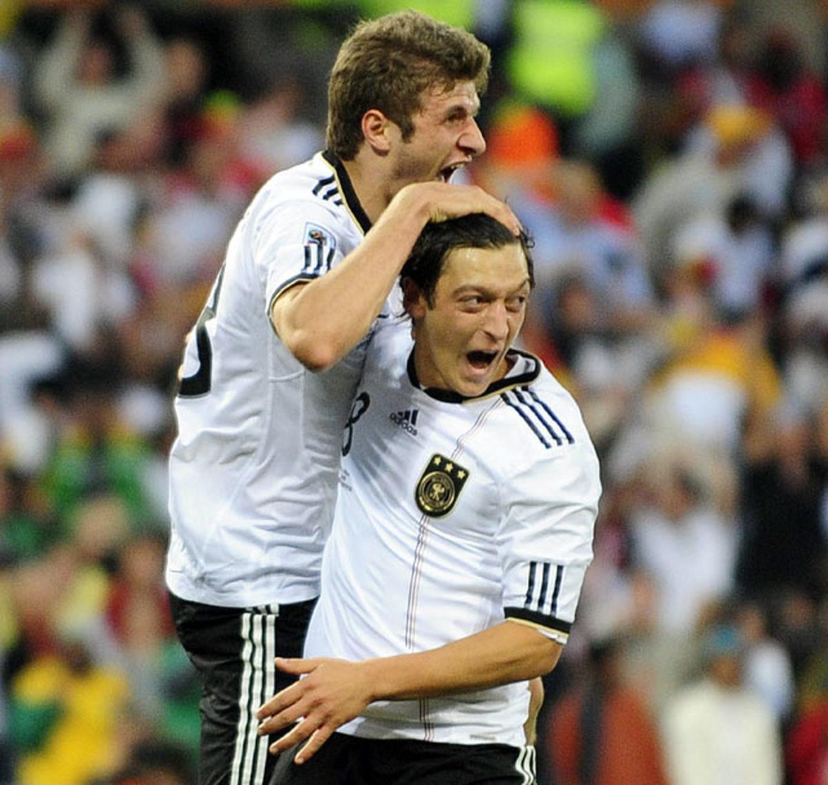 Mesut Ozil and Thomas Mueller
