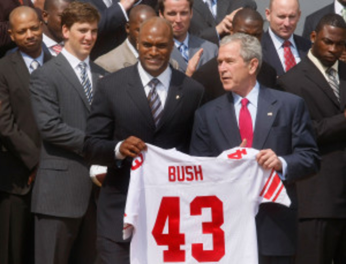 Bush Meets With New York Giants At White House