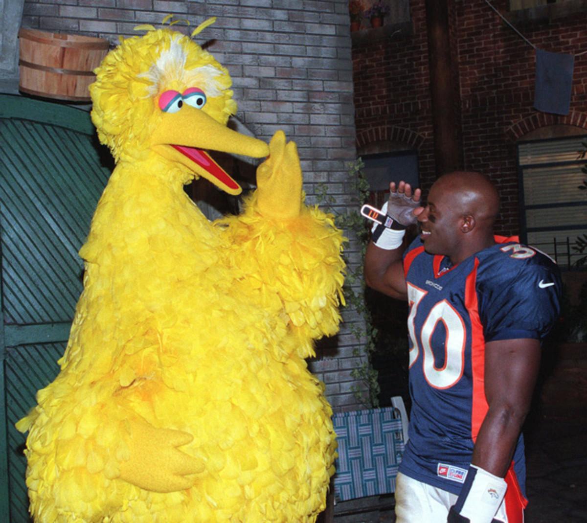Terrell Davis and Big Bird